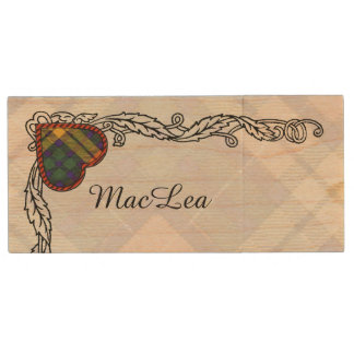 Buchanan Family clan Plaid Scottish kilt tartan Wood USB 3.0 Flash Drive
