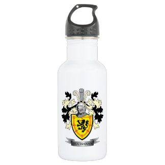 Buchanan Family Crest Coat of Arms 532 Ml Water Bottle