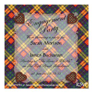 "Buchanan Scottish clan tartan - Plaid 5.25"" Square Invitation Card"