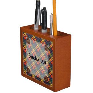 Buchanan Scottish clan tartan - Plaid Pencil Holder
