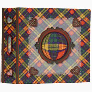 Buchanan Scottish clan tartan - Plaid Vinyl Binder