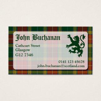Buchanan Tartan Business Card