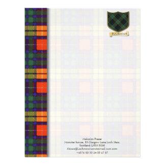 Buchanan tartan design paper custom letterhead