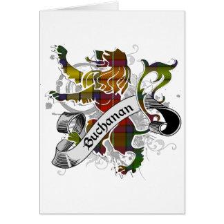 Buchanan Tartan Lion Greeting Card