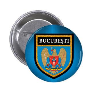Bucharest  Flag 2 Inch Round Button