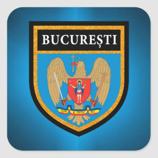 Bucharest  Flag Square Sticker