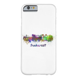 Bucharest skyline in watercolor barely there iPhone 6 case
