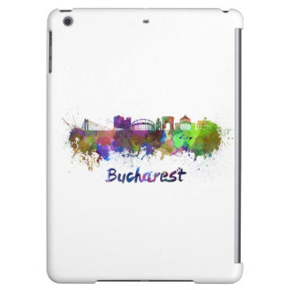 Bucharest skyline in watercolor cover for iPad air