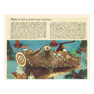 Buche de Noel, Christmas log Postcard
