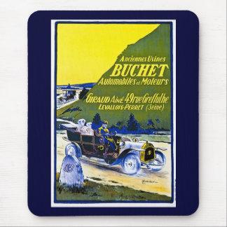Buchet Automobiles Advertisement - Vintage French Mousepads