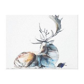 Buck and Bird 2006 Canvas Print
