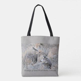 Buck and Doe at Sand Wash Basin Tote Bag