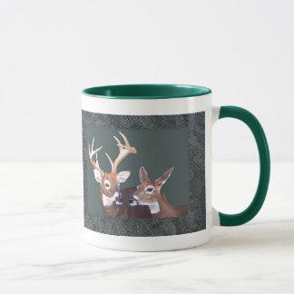 Buck and Doe Deer Painting Mug