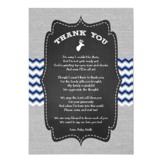Buck Baby Shower Thank you note with poem Card