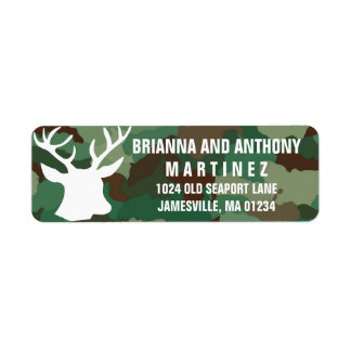 Buck & Camo Personalized Return Address Labels