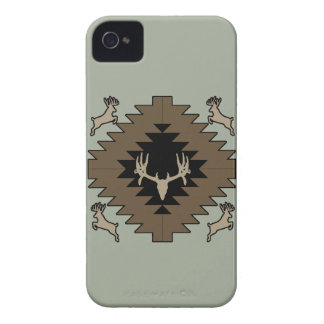 Buck deer American Indian art iPhone 4 Cases