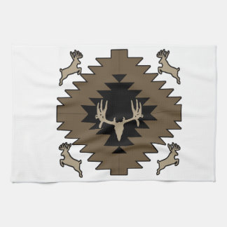 Buck deer American Indian art Kitchen Towels