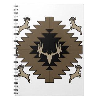 Buck deer American Indian art Notebooks