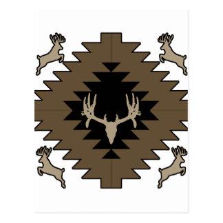 Buck deer American Indian art Postcard
