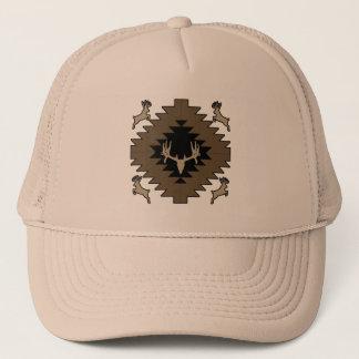 Buck deer American Indian art Trucker Hat