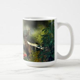 Buck Deer Bridge Coffee Mug