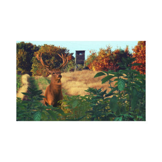 Buck Deer Foreground Custom Canvas Print