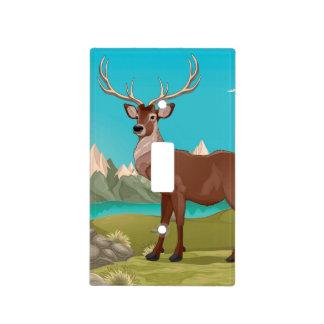 Buck Deer Mountain Scene Light Switch Cover