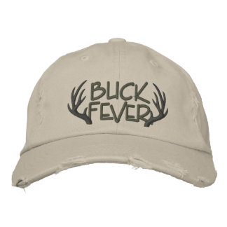 Buck Fever Embroidered Distressed Cap Embroidered Hats