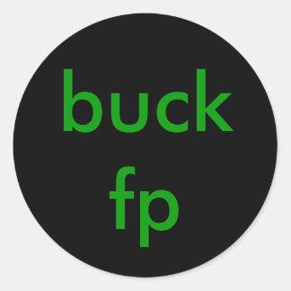 buck fp classic round sticker