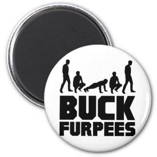 Buck Furpees -- Burpees Fitness Magnet