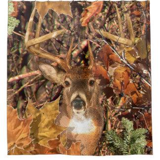 Buck Head in Camouflage White Tail Deer