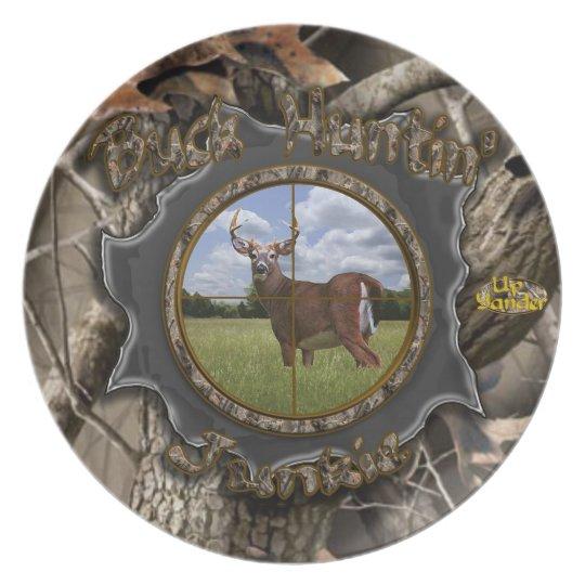 Buck Huntin' Junkie Plate
