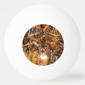 Buck in Fall season scene White Tail Deer Ping Pong Ball