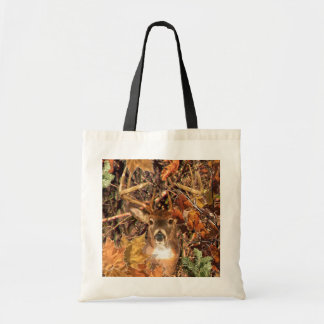 Buck in Hunter Camo White Tail Deer Tote Bag