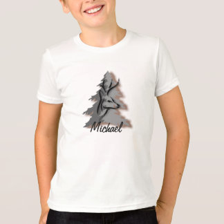 Buck in the Woods Custom Name or Slogan T-Shirt