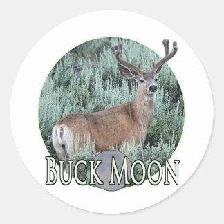 buck moon classic round sticker