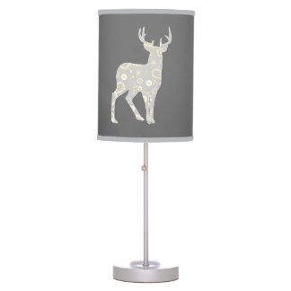 Buck Paisley Pattern Grey and Yellow Table Lamp