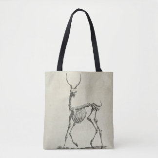 Buck Skeleton Tote Bag
