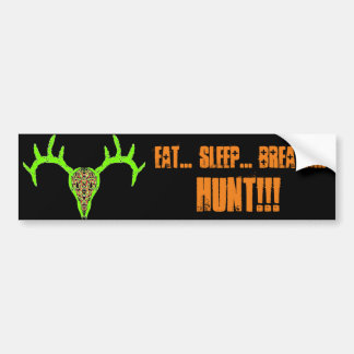Buck Skull Hunt Bumper Sticker