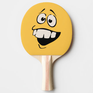 Buck Teeth Smiley Face Ping Paddle Ping Pong Paddle