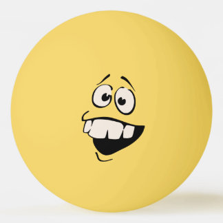 Buck Teeth Smiley Face Ping Pong Ball