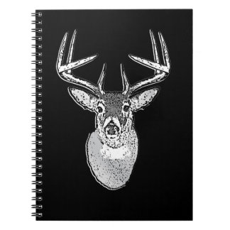 Buck trophy on Black White Tail Deer Notebooks