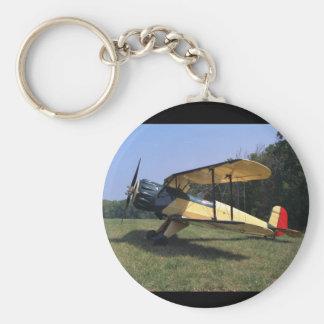 Bucker, Jungmann, 1961, St_Classic Aviation Basic Round Button Keychain
