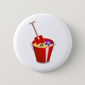 Bucket and Spade 2 Inch Round Button