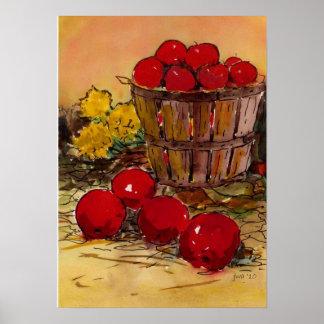 bucket full of apples poster