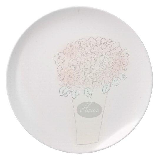 Bucket Full Of Flower Plate