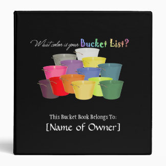 Bucket List Book 3 Ring Binders