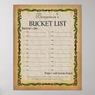 Bucket List Poster