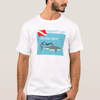 Bucket List Shark Dive T-Shirt