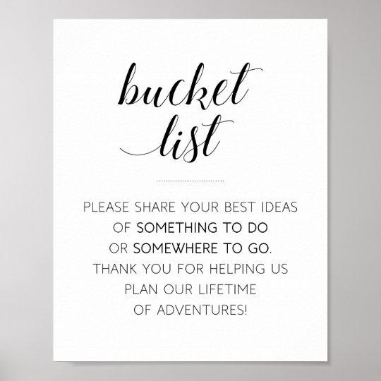 Bucket List Wedding Sign - Alejandra